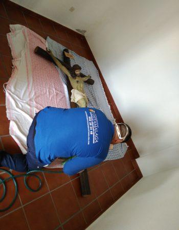 Imagen de operario realizando una desinfección